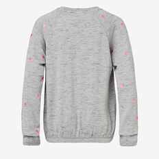 Heart Yardage Windcheater  SLATE MARLE  hi-res