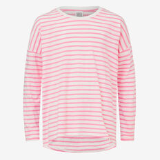 Stripe Tee  ROSE RED/ CANVAS  hi-res