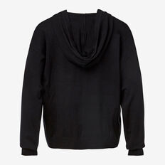 Hooded Knit Top  BLACK  hi-res