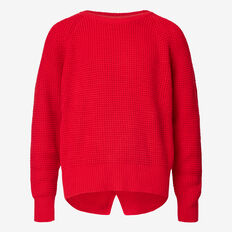 Waffle Sweater  ROSE RED  hi-res