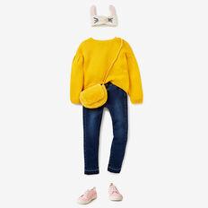 Pleat Sleeve Sweater  SUNFLOWER  hi-res