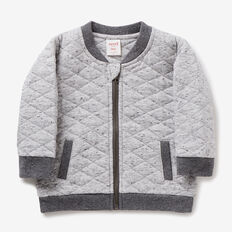 Quilted Bomber  GREY SPECKLE MARLE  hi-res