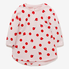 Ladybug Spot Terry Dress  ICE PINK  hi-res
