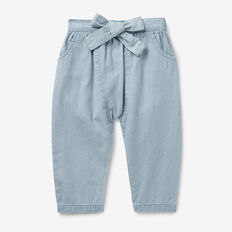 Chambray Harem Pants  BABY BLUE WASH  hi-res