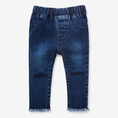 Bunny Knee Jeans  MEDIUM WASH  hi-res