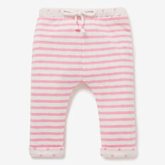 Double Knit Stripe Track Pant  BUBBLEGUM/CANVAS  hi-res