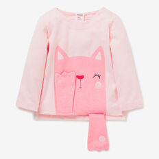 Cat Peekaboo Tee  ICE PINK  hi-res