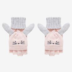 Kids Bunny Hood Gloves  ICE PINK  hi-res