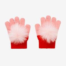 Colour Block Gloves  BUBBLEGUM  hi-res