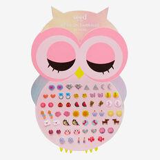 Owl Stick-On Earrings  MULTI  hi-res