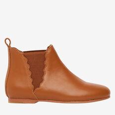 Leather Short Boot  DARK TAN  hi-res
