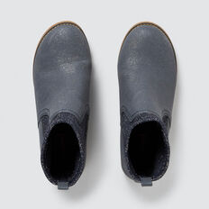 Metallic Knit Boot  NAVY  hi-res