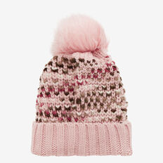 Bobble Knit Beanie  SOFT BLUSH  hi-res