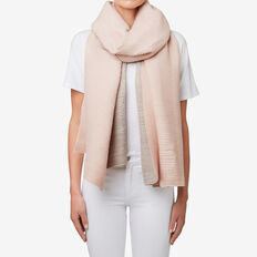 Two Tone Pleat Scarf  GREY/ ROSE MIST  hi-res