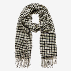 Winter Check Scarf  BLACK/ BONE  hi-res