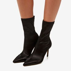 Rose Point-Heeled Boot  BLACK  hi-res