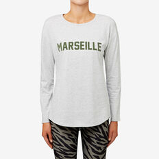 Marseille Flock Tee  SMOKEY GREY  hi-res