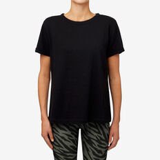 Split Hem Tee  BLACK  hi-res