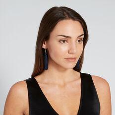 Tassel Earrings  NAVY/GOLD  hi-res