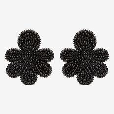 Seed Bead Earrings  BLACK  hi-res