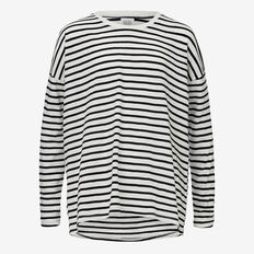 Stripe Tee  BLACK/CANVAS  hi-res