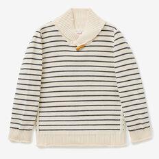 Shawl Neck Sweater  CREAM  hi-res