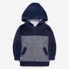 Zip-Up Knit Hoodie  MIDNIGHT BLUE  hi-res