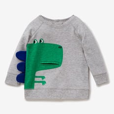 Dino Pocket Sweater  CLOUDY MARLE  hi-res
