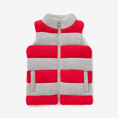 Knitted Vest  BRICK RED  hi-res