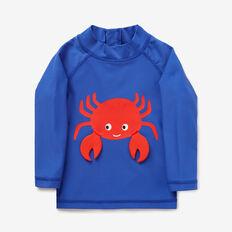 Novelty Crab Rashie  BLUE BOLT  hi-res