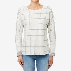 Check Jacquard Sweater  CREAM CHECK  hi-res