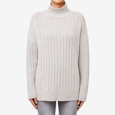 Rib Roll Neck Sweater  MONO TWIST  hi-res