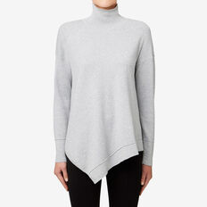 Roll Neck Sweater  MID GREY MARLE  hi-res
