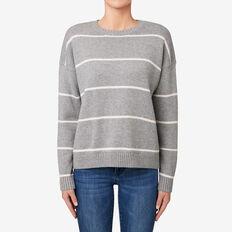 Easy Stripe Sweater  ROSE MIST STRIPE  hi-res