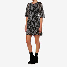 Shirred Dress  FLORAL  hi-res