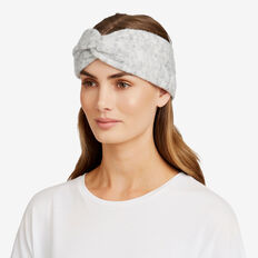 Estelle Knit Turban  LIGHT GREY MARLE  hi-res