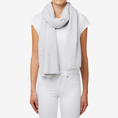 Moss-Stitch Scarf  LIGHT GREY MARLE  hi-res
