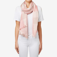 Twin Check Scarf  BLUSH MULTI  hi-res