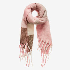 Check Fringe Scarf  ROSE MULTI  hi-res