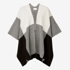 Check Poncho  BLACK/ BONE  hi-res