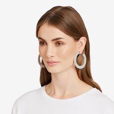 Flat Hoop Earrings  SILVER  hi-res