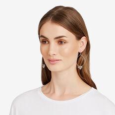 Oval Bead Earrings  SILVER  hi-res