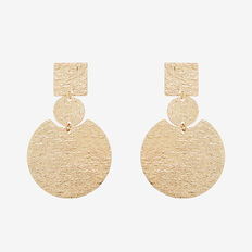 Textured Plate Earrings  GOLD  hi-res