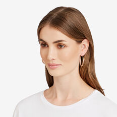 Small Oval Hoops  SILVER  hi-res