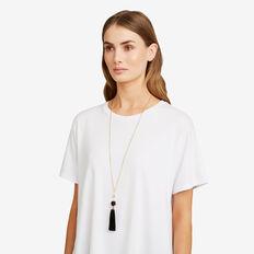 Knot Tassel Necklace  GOLD/BLACK  hi-res