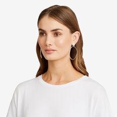 Hoop Stud Earrings  SILVER  hi-res