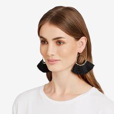 Tassel Fringe Earrings  GOLD/BLACK  hi-res