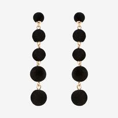 Velvet Drop Earrings  BLACK  hi-res