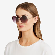 Claudia D-Frame Sunglasses  GOLD  hi-res