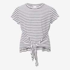 Stripe Knot Tee  SNOW WHITE/ BLACK  hi-res